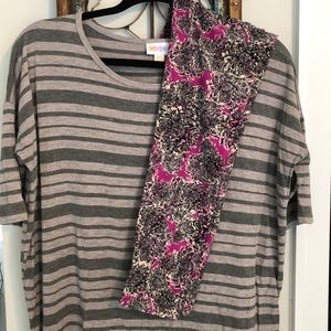 LuLaRoe Irma and OS legging